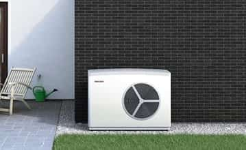 Stylish air source heat pump