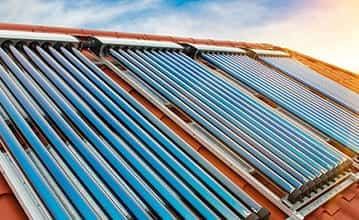 Evacuated solar tubes for water heating