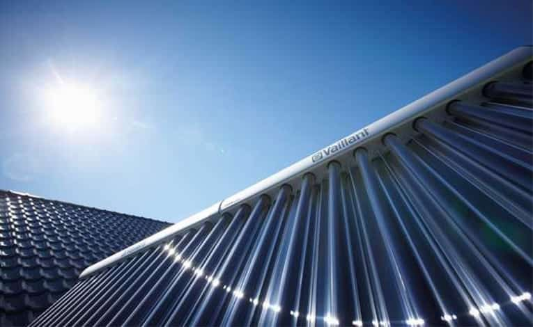 Vaillant evacuated solar tubes for water heating